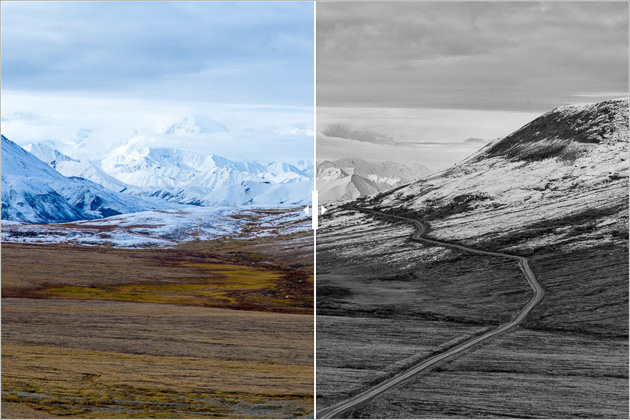 Alaska Color and BW